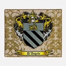 D'Angelo Family Crest Throw Blanket