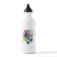 Music Swirl Water Bottle