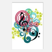 Music Swirl Postcards (Package of 8)