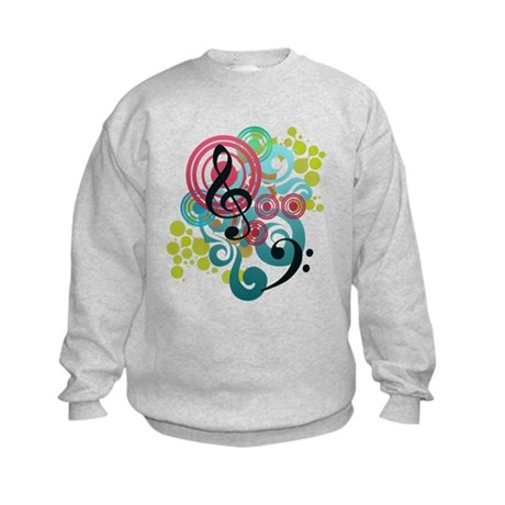 Music Swirl Kids Sweatshirt