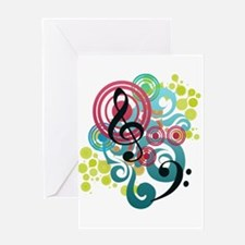 Music Swirl Greeting Card
