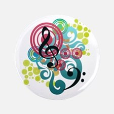 "Music Swirl 3.5"" Button (100 pack)"