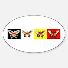 Unique Medicine wheel animal Sticker (Oval)