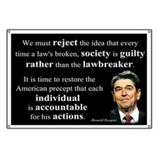 Reagan Quote - Individual Accountable Banner