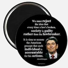 "Reagan Quote - Individual Accountable 2.25"" Magnet"