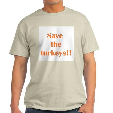 """Save the Turkeys/Adam"" Ash Grey T-Shirt"
