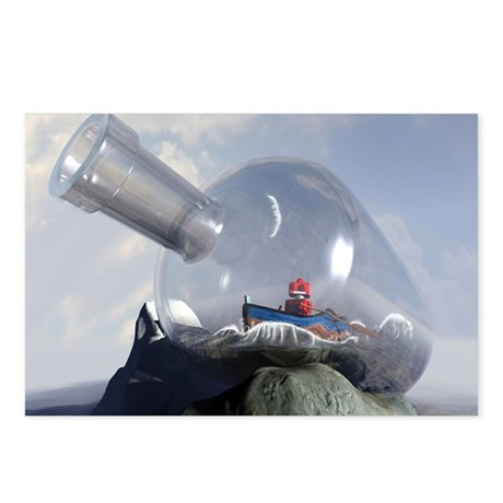 A Robot in a Bottle Postcards (Package of 8)