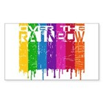 Over the Rainbow Sticker (Rectangle 10 pk)