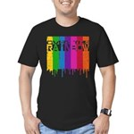 Over the Rainbow Men's Fitted T-Shirt (dark)