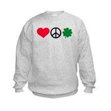 Love, Peace & Shamrock Sweatshirt