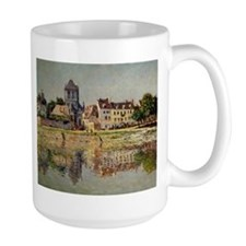 By the River at Vernon, by Monet Mugs