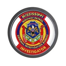 Mississippi Highway Patrol CI Wall Clock