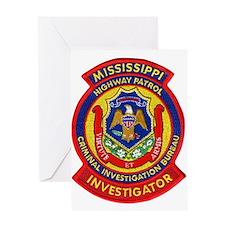 Mississippi Highway Patrol CI Greeting Card