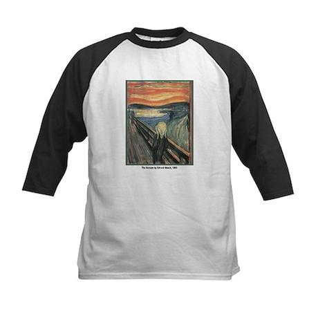 Edvard Munch Scream Kids Baseball Jersey