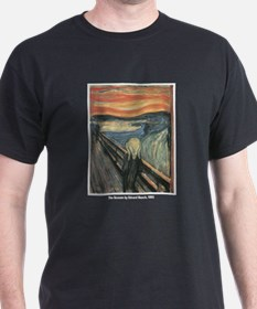 Edvard Munch Scream (Front) Black T-Shirt
