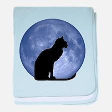 Cat & Moon baby blanket