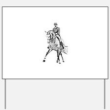 Dressage horse Yard Sign