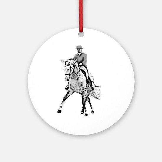 Dressage horse Ornament (Round)