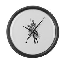 Dressage horse Large Wall Clock