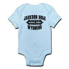 Jackson Hole Old Style Black Infant Bodysuit
