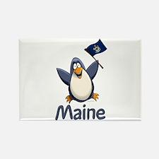 Maine Penguin Rectangle Magnet