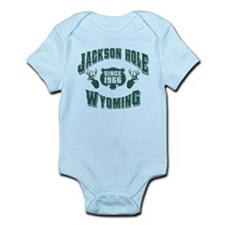 Jackson Hole Green Deer Infant Bodysuit