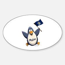 Maine Penguin Sticker (Oval)