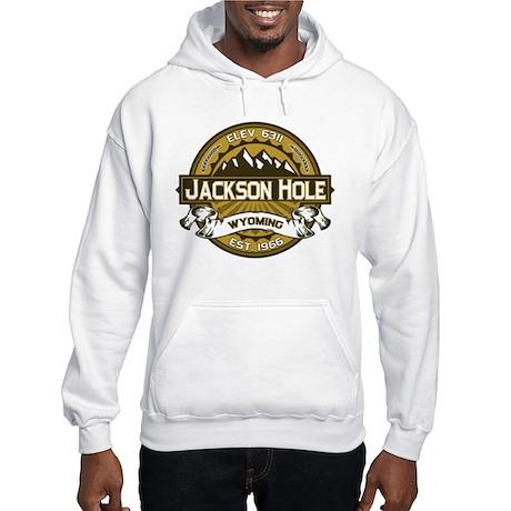 Jackson Hole Tan Hooded Sweatshirt