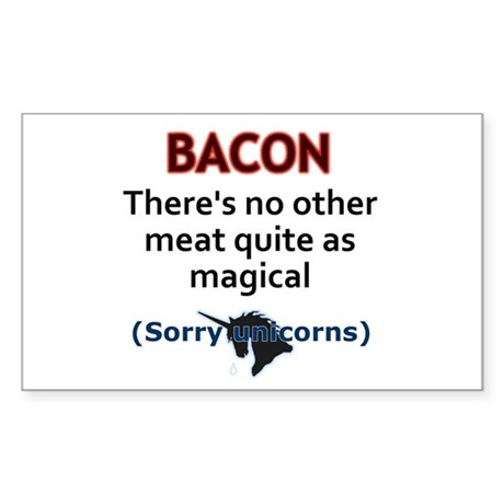 Bacon is Magic Sticker (Rectangle 10 pk)
