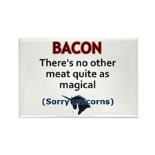 Bacon is Magic Rectangle Magnet