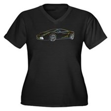 Lambo Glow Women's Plus Size V-Neck Dark T-Shirt