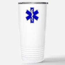 Blue Star of Life Stainless Steel Travel Mug