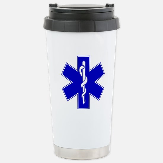 Blue Star of Life Stainless Steel Travel Mug