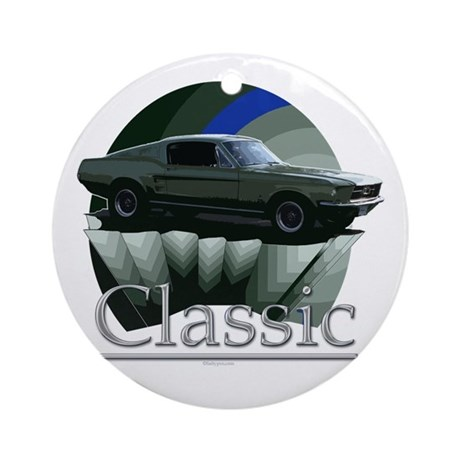 67 Mustang Ornament (Round)