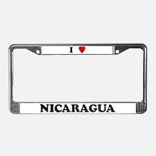 I Love Nicaragua License Plate Frame