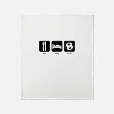 eat sleep soccer Throw Blanket