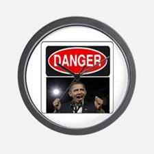 Danger - Obama! Wall Clock