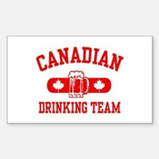 Canadian Drinking Team Rectangle Decal