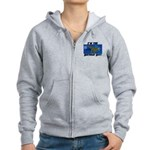Birthday Boy Dinosaur Women's Zip Hoodie