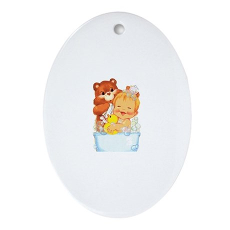 Cloth Diapers Oval Ornament