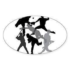 BASEBALL 1 Sticker (Oval)