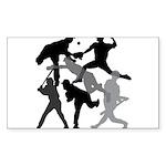 BASEBALL 1 Sticker (Rectangle)