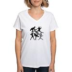 BASEBALL 1 Women's V-Neck T-Shirt