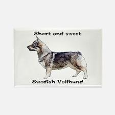 Swedish Vallhund short and sweet Rectangle Magnet
