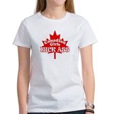 Canadian Girls Kick Ass Tee