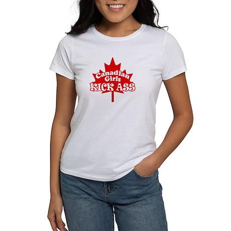 Canadian Girls Kick Ass Women's T-Shirt