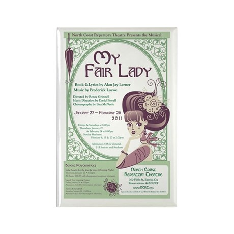 My Fair Lady Rectangle Magnet