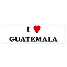 I Love Guatemala Bumper Bumper Sticker