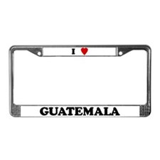 I Love Guatemala License Plate Frame