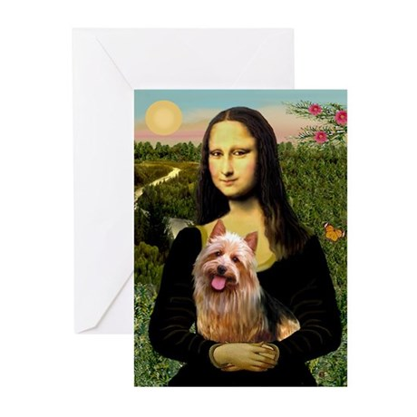 Mona & her Aussie Terrier Greeting Cards (Package